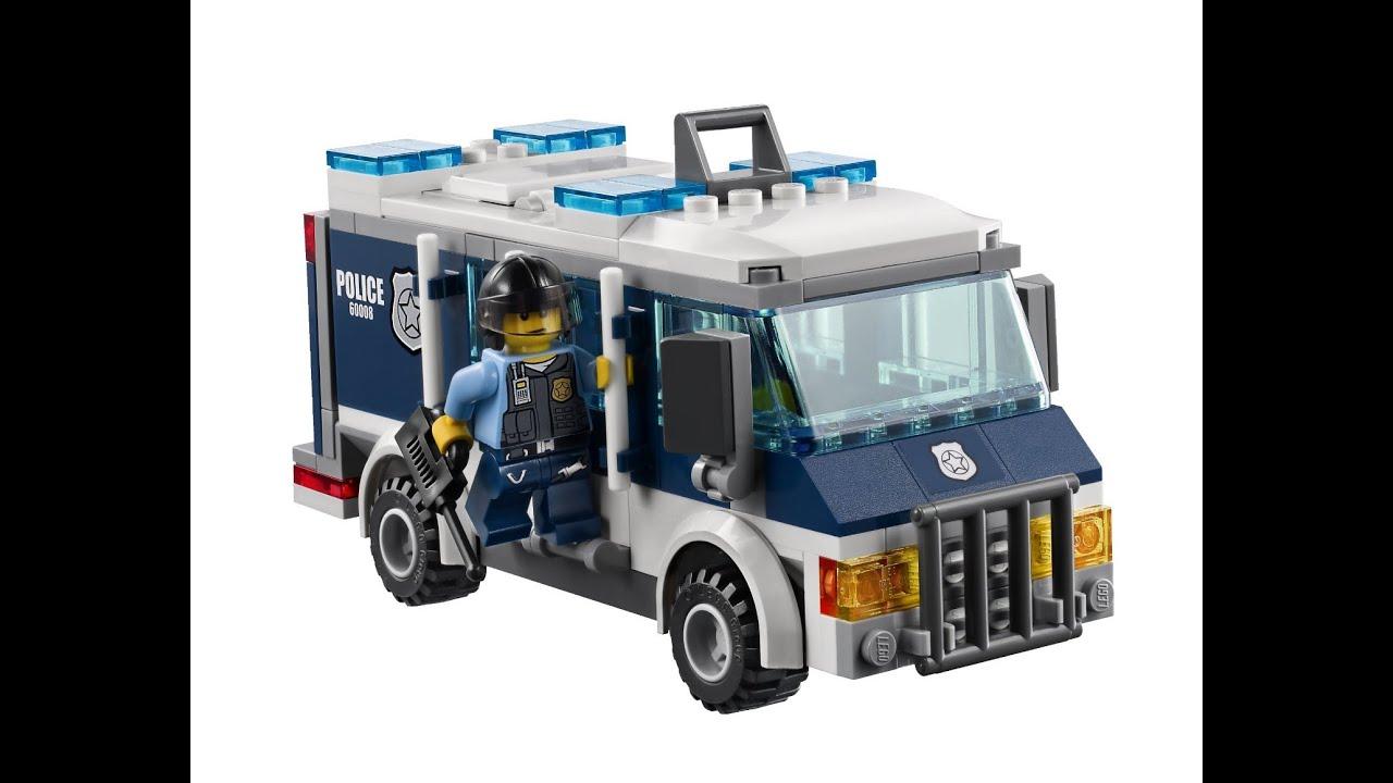 Camiones y coches de la polic a juguetes infantiles youtube - Lego city camion police ...