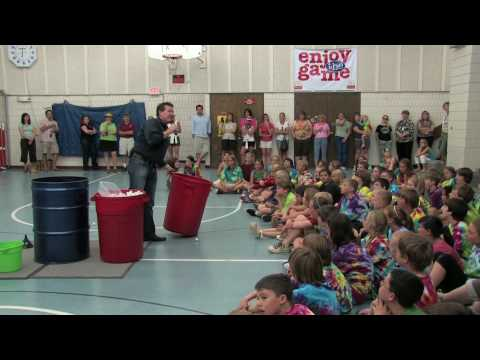 Liquid Nitrogen Ping Pong Ball Explosion - 5th Grade Class Graduation