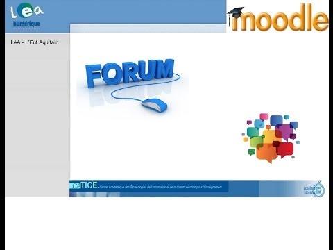 Moodle : Créer un forum