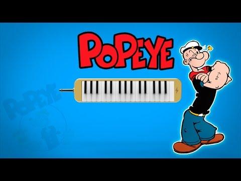 """Como Tocar: """"Popeye The Sailor"""" - TV THEME [ MELODICA ][ TUTORIAL ][ NOTAS ]"""