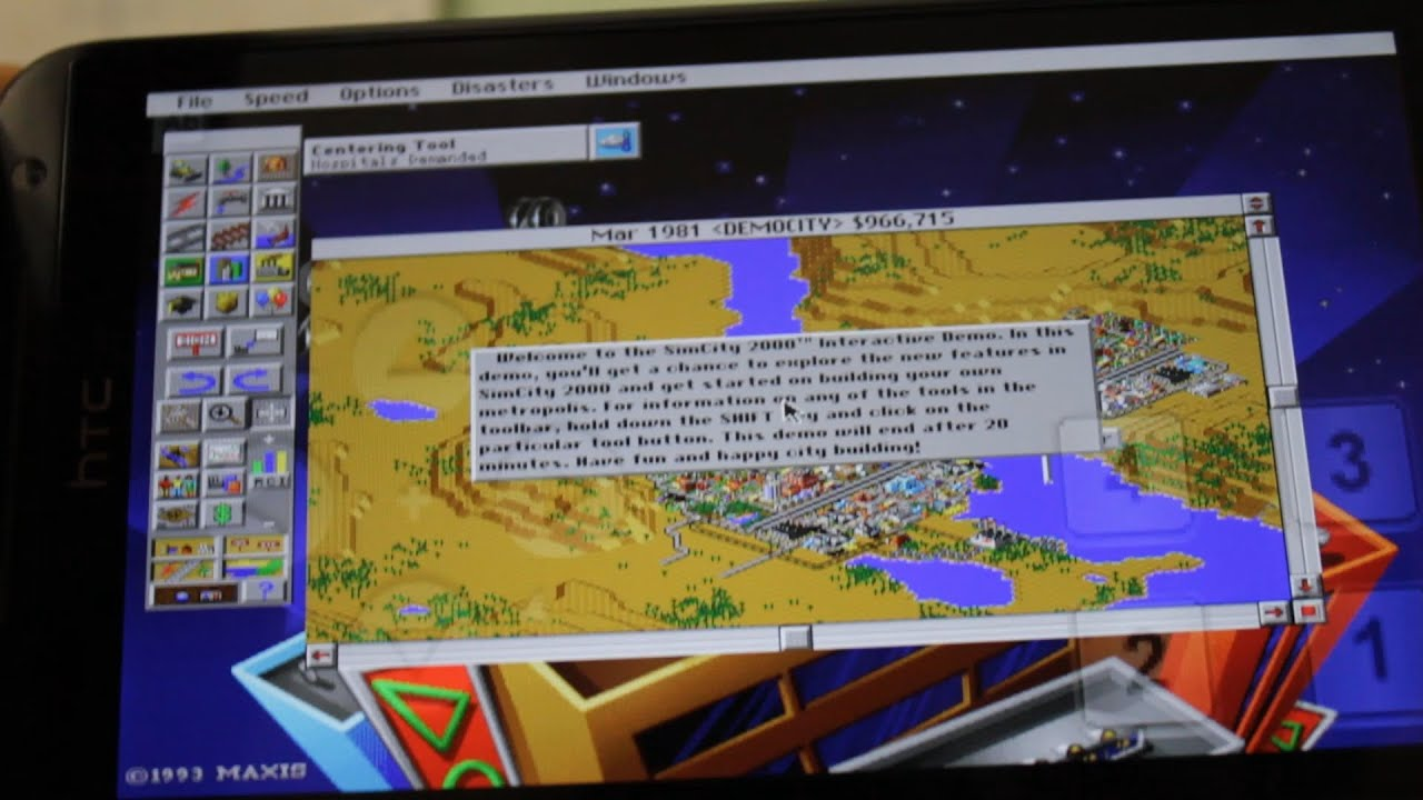 How To Play Simcity 2000 On Android Youtube