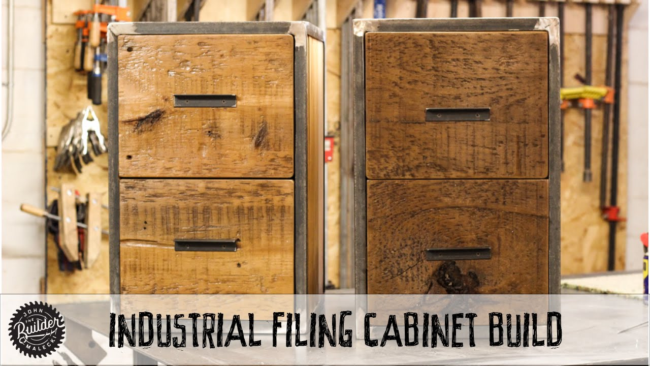 How To Build An Easy Welding U0026 Woodworking Industrial Reclaimed Filing  Cabinet   YouTube