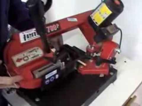 V1 m quinas de taller sierra de cinta para metales youtube - Sierra de cinta para metal ...