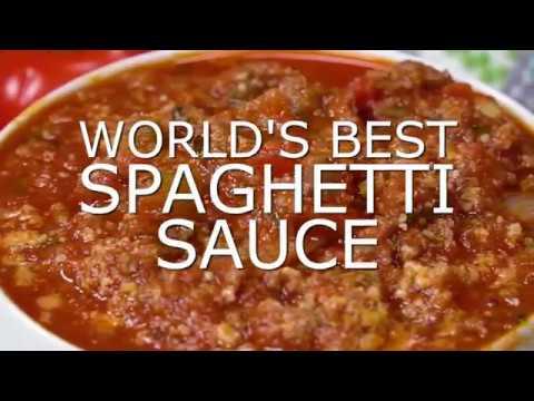 The BEST Spaghetti Sauce Recipe EVER