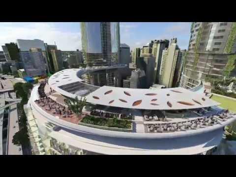 Queen's Wharf Brisbane architectural flythrough