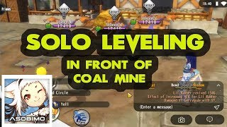 This Job can solo leveling in front of coal mine - Alchemia Story Newbie Guide Tips and Trick
