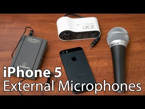 External Microphones for iPhone 5s, 5, 4S, iPad and iPod