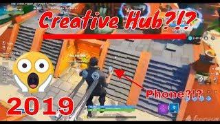 How to get the phone in the Fortnite creative hub! (Season 9 Glitch) + Secret
