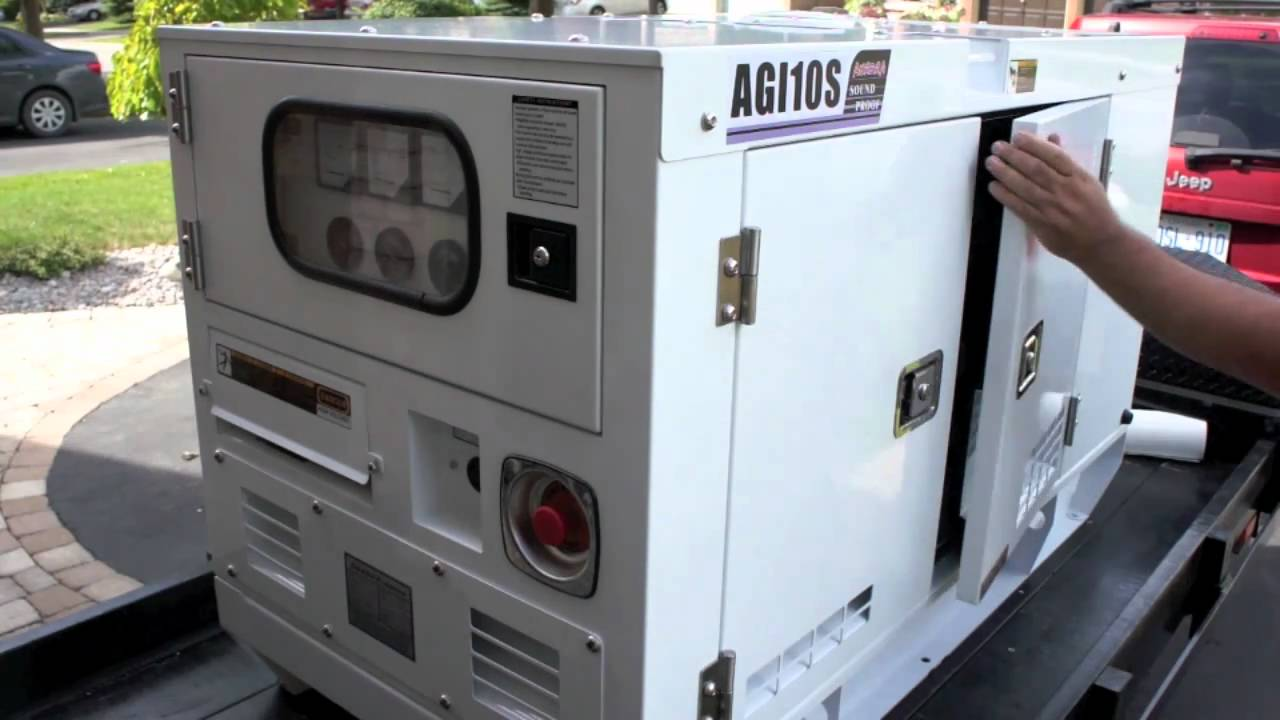 Diesel home generator youtube for Generator sizing for motors
