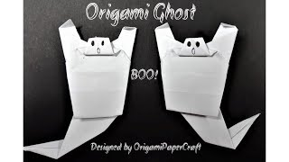Origami Ghost - BOO! - Origami For Halloween