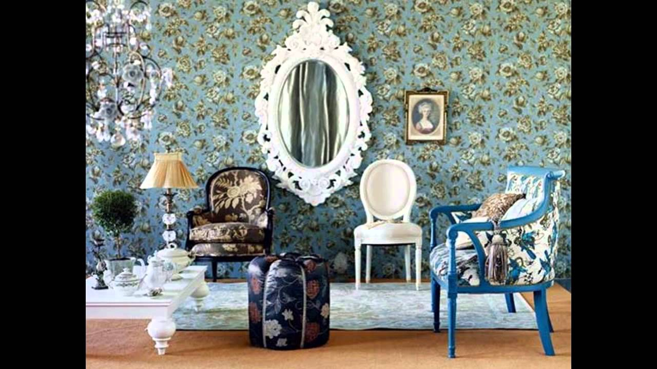 Vintage room wallpaper decor ideas youtube for Room decor ideas vintage