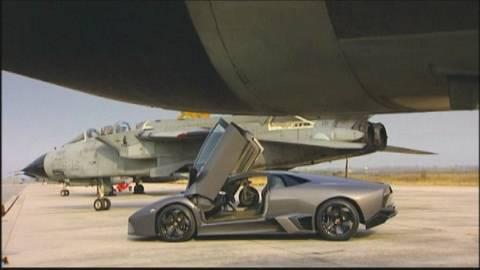 Lamborghini Reventon Vs. Kampfjet Das Beschleunigungs-Duell: