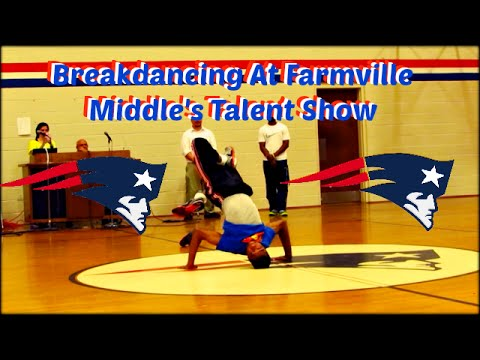 Breakdancing At Farmville Middle School Talent Show 2015