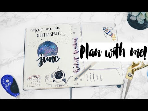 Bullet Journal | June Plan with me!