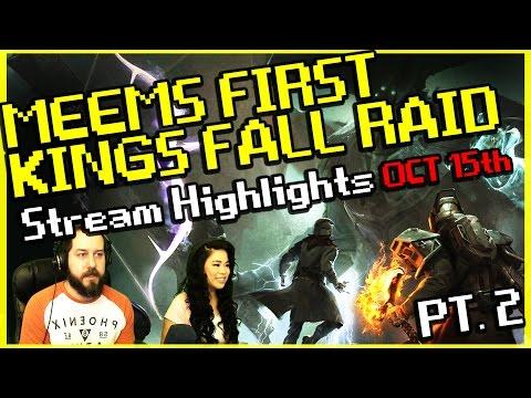 Destiny - Meems first King's Fall Raid - Stream Highlight Pt. 2