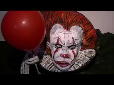 Pennywise the dancing clown from it pumpkin youtube for Clown pumpkin painting