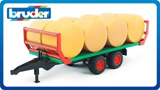 Bruder Toys Bale Transport Trailer with 8 Round Bales #02220