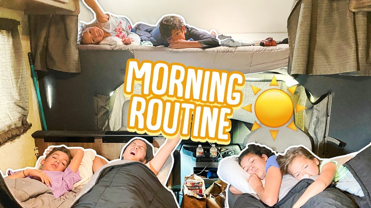 Large Family MORNING ROUTINE in a SMALL RV!