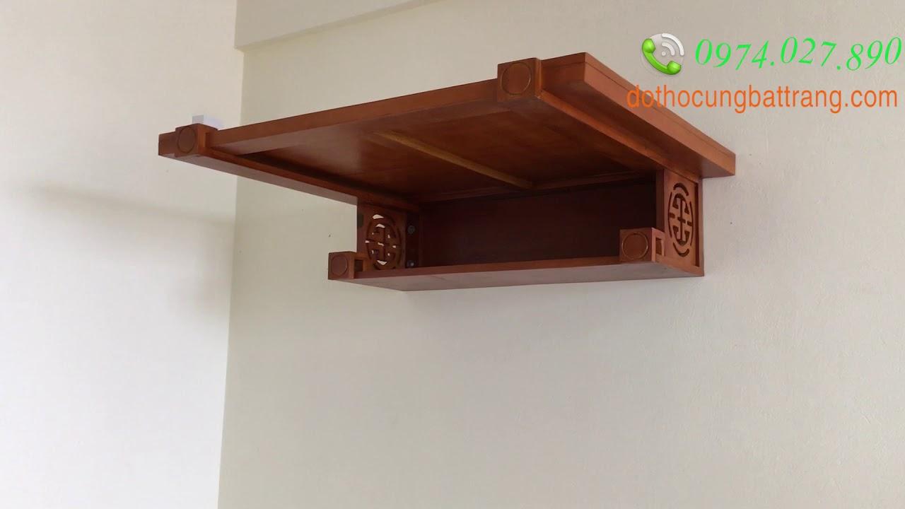 Lắp đặt bàn thờ treo tường hiện đại đẹp cho nhà tòa chung cư của bộ tham mưu Ngọc Hồi, Thanh Trì