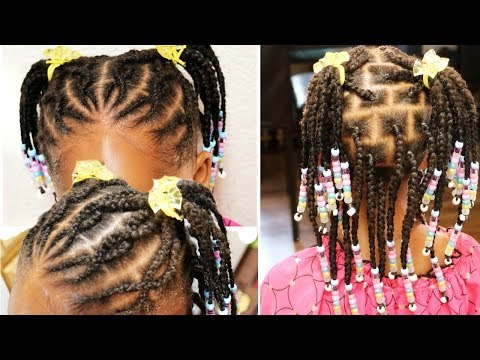 how-to-|little-girls-braided-hairstyle|-with-beads