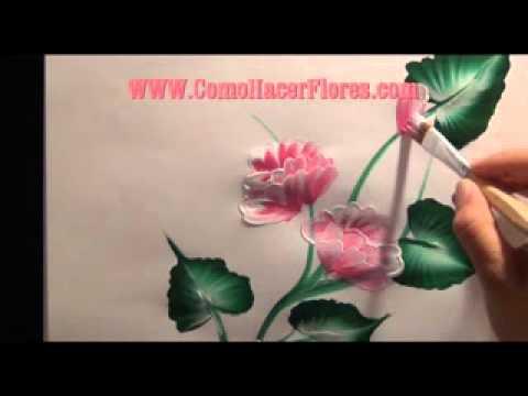 Como pintar flores en madera con pinceladas decorativas es - Aprender a pintar en madera ...