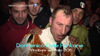 Domenico Delle Fontane vincitore del Palio 2015