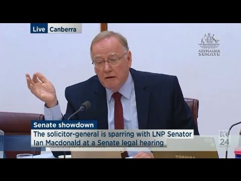 Brandis Vs Gleeson - Sen Ian Macdonald attempting to find out Laura Tingle