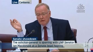 Brandis Vs Gleeson - Sen Ian Macdonald attempting to find out Laura Tingle's sources