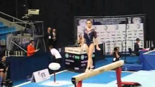Алия Мустафина, бревно, квалификация, Чемпионат Европы 2013