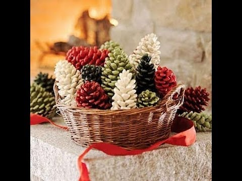 christmas pine cone decorations arts and crafts creative ideas 2013 - Christmas Basket Decoration Ideas