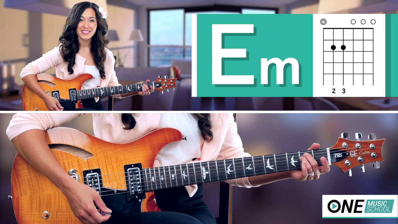 How To Play An Em Chord On Guitar Youtube