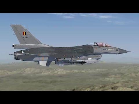 Aerosoft F-16  - Tutorial startup, autopilot, landing, shutdown