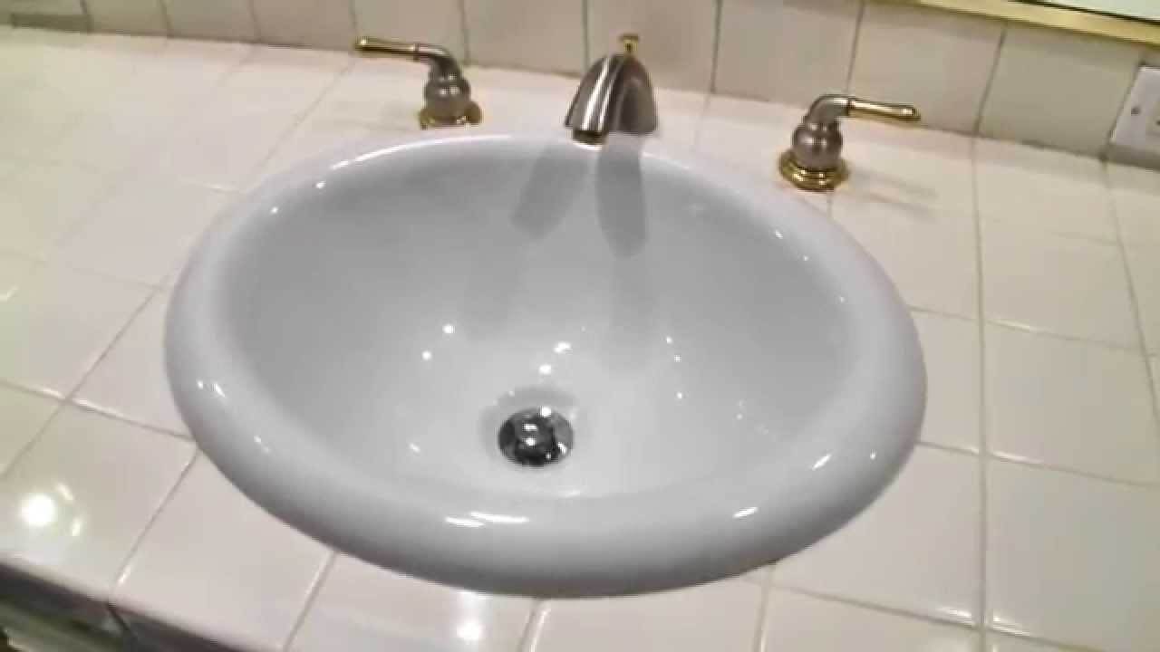 Bathroom Drain Installation Bathroom Sink Installation Youtube Double Sink Disposal Drain