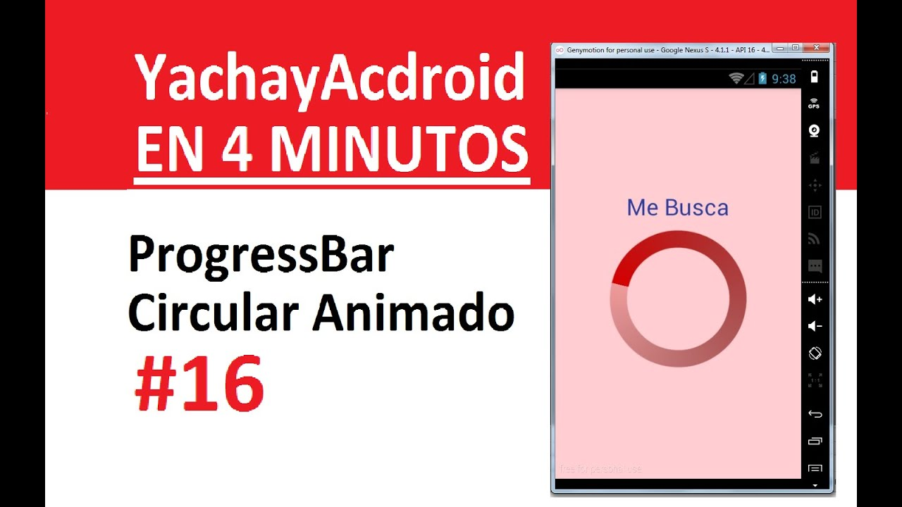 16  Android Studio 1 5 1 - ProgressBar Circular Rotando (Movil)