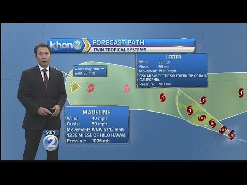 Madeline, Lester churn in East Pacific, forecast to head toward Hawaii