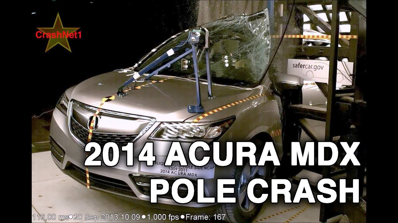2014 Acura MDX | Pole Crash Test | CrashNet1 - YouTube on