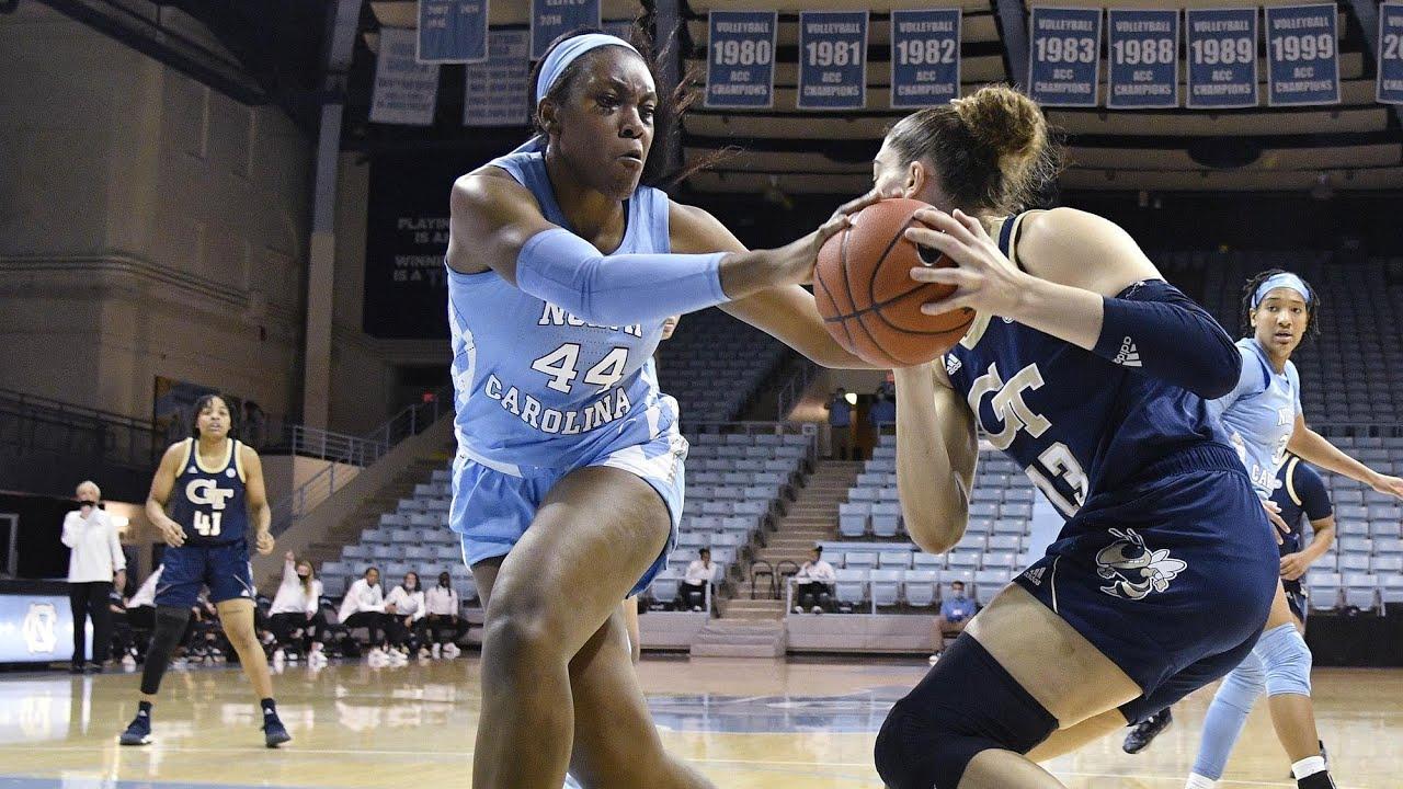 Video: UNC Women's Basketball Dominates Georgia Tech On Senior Night - Highlights