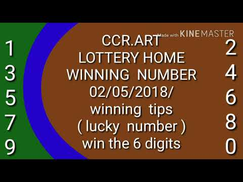 Powerball  Lucky number  ( win the 6 digit ) 05/052018/