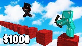 I Told BadBoyHalo Finish The Parkour For $1,000 - Minecraft