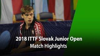 2018 Slovak Junior Open Highlights | Takeru Kashiwa vs Samuel Kulczycki (Final)