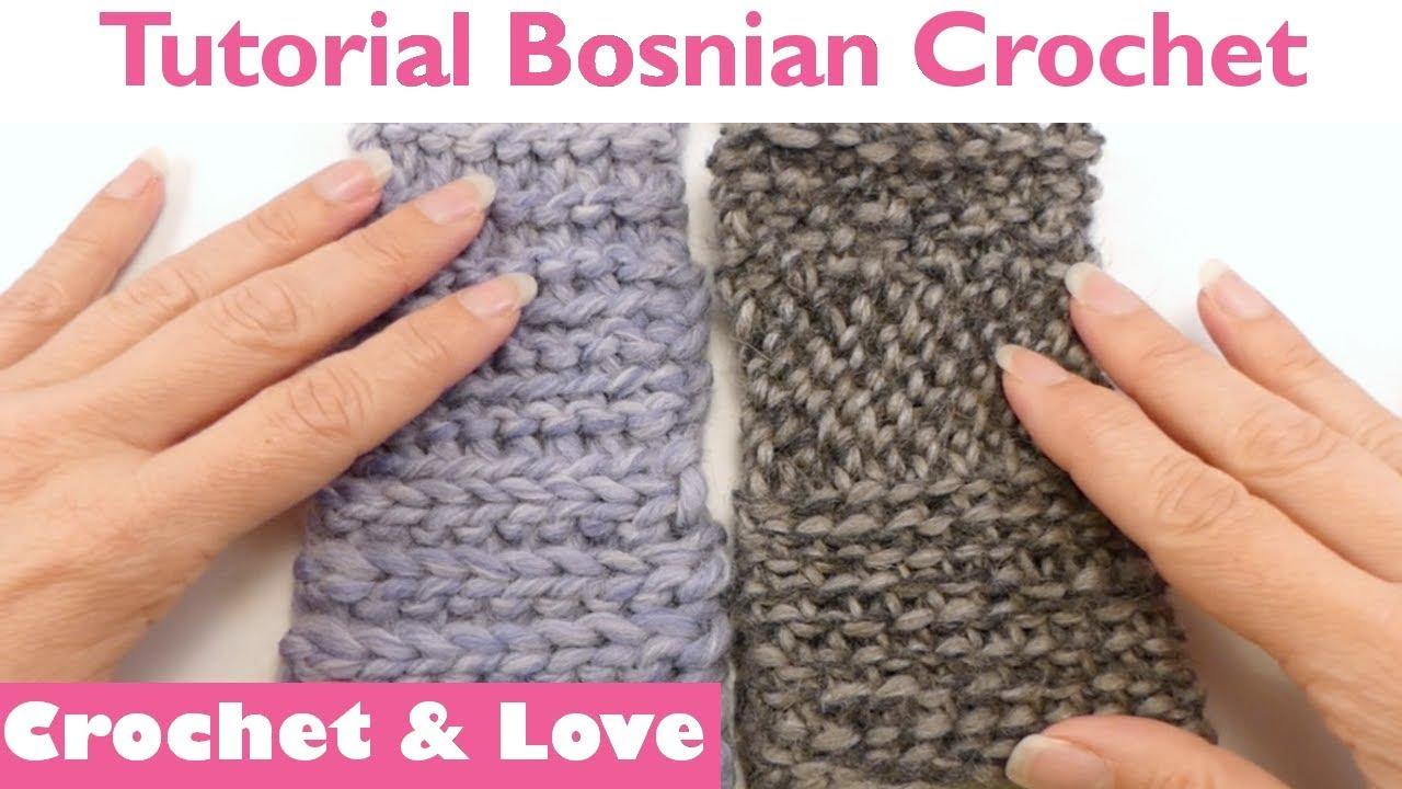Tutorial Bosnian Crochet (le basi) - Uncinetto Bosniaco - Shepherd\'s ...