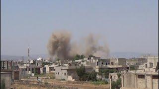 أخبار عربية | النظام يقصف بالخراطيم المتفجرة ريف #دمشق