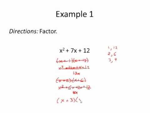 Factoring Trinomials A 1 Worksheet Answers - Kidz Activities