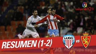 Resumen de CD Lugo vs Real Zaragoza (1-2)