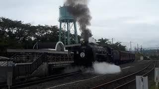 京都鉄道博物館でC62-2号機SLスチーム号の発車シーン(2019年10月14日月曜日)携帯電話で撮影