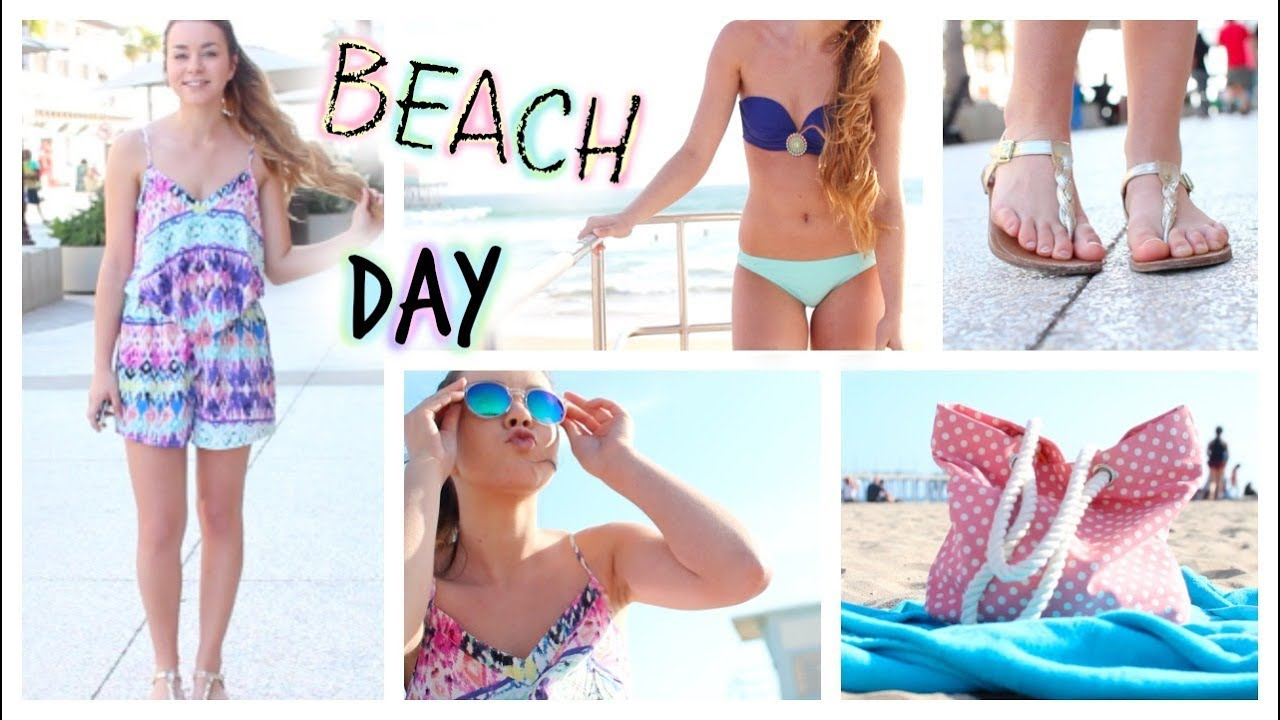 Get Beach Day Ready Hair Makeup Outfit Essentials