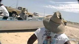 Beaching a boat in Baja