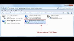 How to Enable Microsoft Virtual WiFi Miniport Adapter !