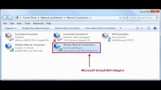 how to Create Microsoft Virtual Wifi Miniport Adapter in Windows