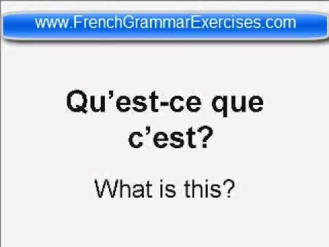 beginners french grammar exercises youtube. Black Bedroom Furniture Sets. Home Design Ideas